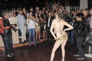 Spettacolo Bulescque ballerina Lisa dalla Via